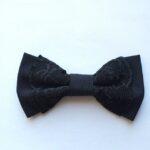 papion negru cu dantela
