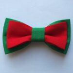 papion dublu verde cu rosu