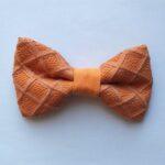papion portocaliu cu dantela