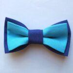 papion dublu albastru inchis cu albastru deschis